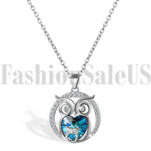 925 Sterling Silver Jewelry Mother And Child Owl Love Heart