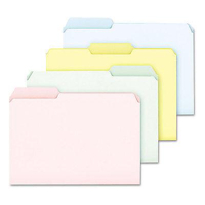 Pendaflex Pastel Color File Folders 1/3 Cut Top Tab Letter Assorted 100/Box