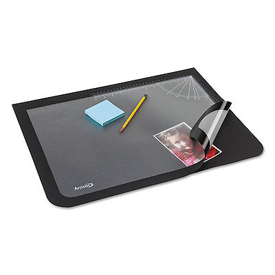 Artistic Lift-top Pad Desktop Organizer With Clear Overlay 22 X 17 Black 41700s
