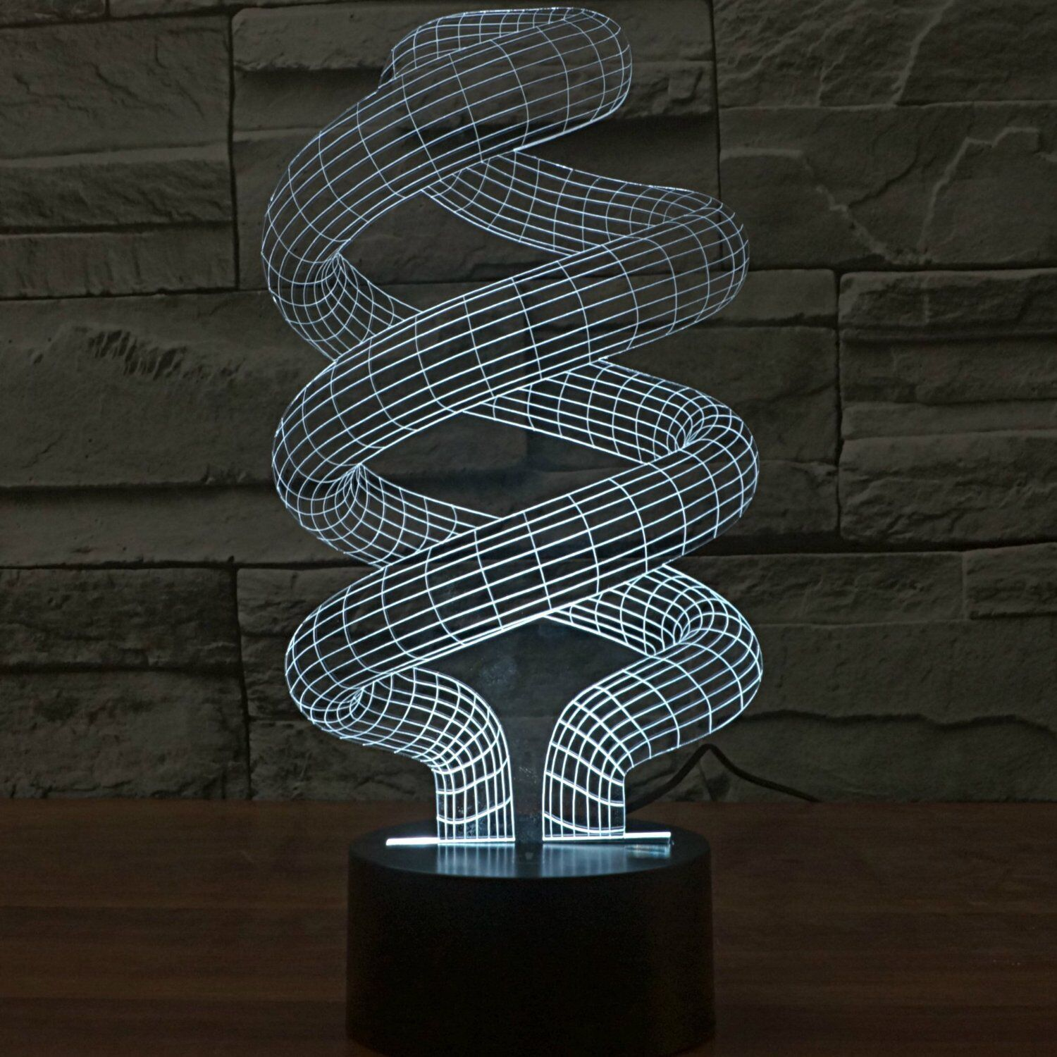 3D Optical Illusion Abstract Space Spiral Color Change NightLight for Xmas Decor