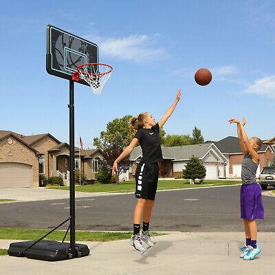 Portable Adjustable Outdoor Basketball Hoop, 44 in. Black Backboard, 7.5 - 10 ft](Cheap Basketball Hoop)