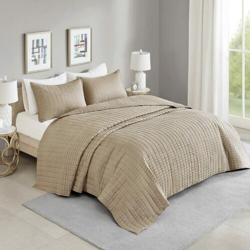 Kienna Quilt Set-Luxury Double Sided Stitching Design All Season, Lightweight
