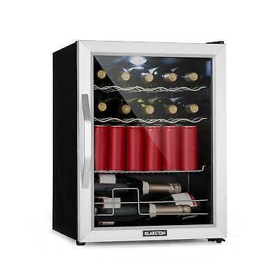 Mini Fridge Refrigerator Drinks cooler Bar Beer Wine A++ LED Light 60 Litres