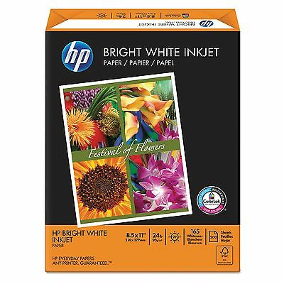 "HP Bright White Inkjet Paper 24lb 97 Bright 8-1/2 x 11"" Ream - New Item NEW NEW"