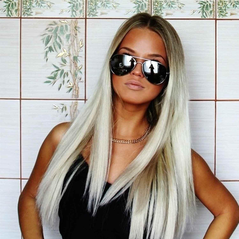 Men Women Vintage Retro Pilot Sunglasses Silver Mirrored Lens Metal Frame Gafas