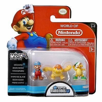 Mario Bros U Micro Figure 3-Pack : Ice Mario Boom Boom/Hammer Bros