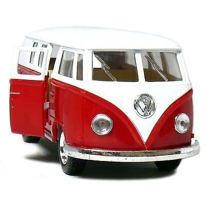 """5"""" Kinsmart Classic 1962 Volkswagen Bus Van Diecast Model Toy 1:32 VW- Red"""