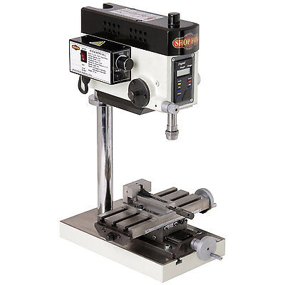 Shop Fox M1036 0.2 Hp 110v 2 Amp Micro Milling Machine 14-in Drilling Capacity