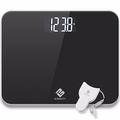 (Etekcity Digital Body Weight Bathroom Scale With Extra Large LCD Display, 440lb)