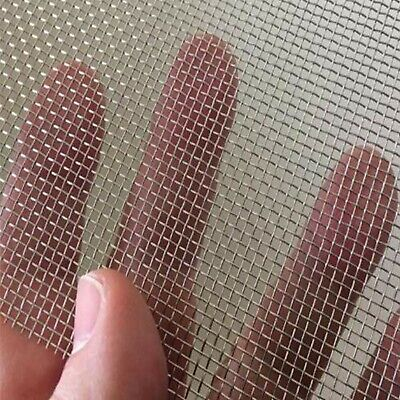 2 Pack Stainless Steel Woven Wire Mesh Security Window Screening Mesh Garden ...