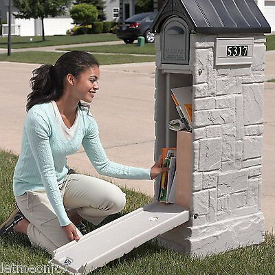 Large Mailbox For Packages With Lock Post Security Locked Residential Locking (Large Residential Mailboxes)