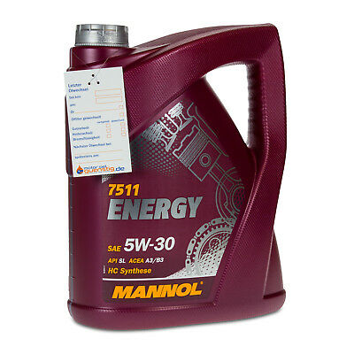5 (1x5) Liter MANNOL SAE 5W-30 ENERGY Motoröl VW 502.00 / 505.00 / MB229.3