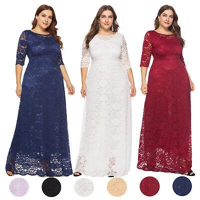 Plus Size Bridal Dresses (Women's Plus Size Maxi Cocktail Party Wedding Evening Formal Lace Long Dresses  )