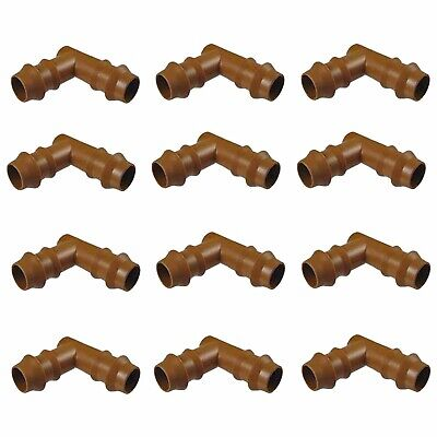 """Habitech 12-Pack Barbed Elbow Drip Irrigation Fittings for 1/2"""" Tubing"""