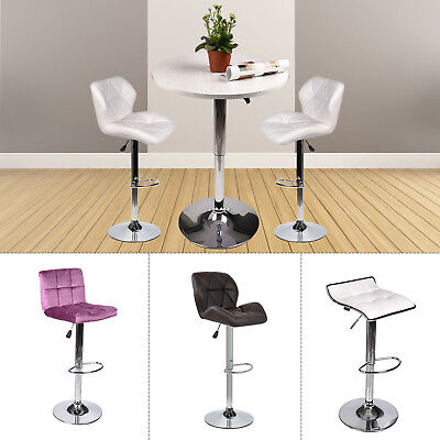 - 3-Piece Pub Table Set Bar Stools Adjustable Dining Chair Counter Height Kitchen
