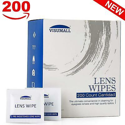 200 Ct Lens Cleaning Wipes For Eye Glass Screen Optical Camera Phone Cleaner USA