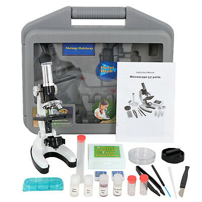 52pcs Portable Educational Microscope Kit Biological Microscope Gift For Kids