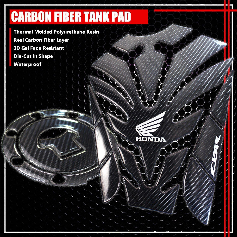 87-96 GSXR-600//750//1000 CARBON FIBER LOOK GAS CAP FUEL LID COVER PROTECTION PAD