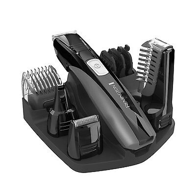 Full Body Rechargeable Body Groomer Lithium Power 8 Attachments Self Sharpening