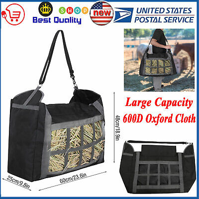 Hay Tote Straw Bale Bag 600D Oxford Horse Feeder Large Capacity Feed Accessories