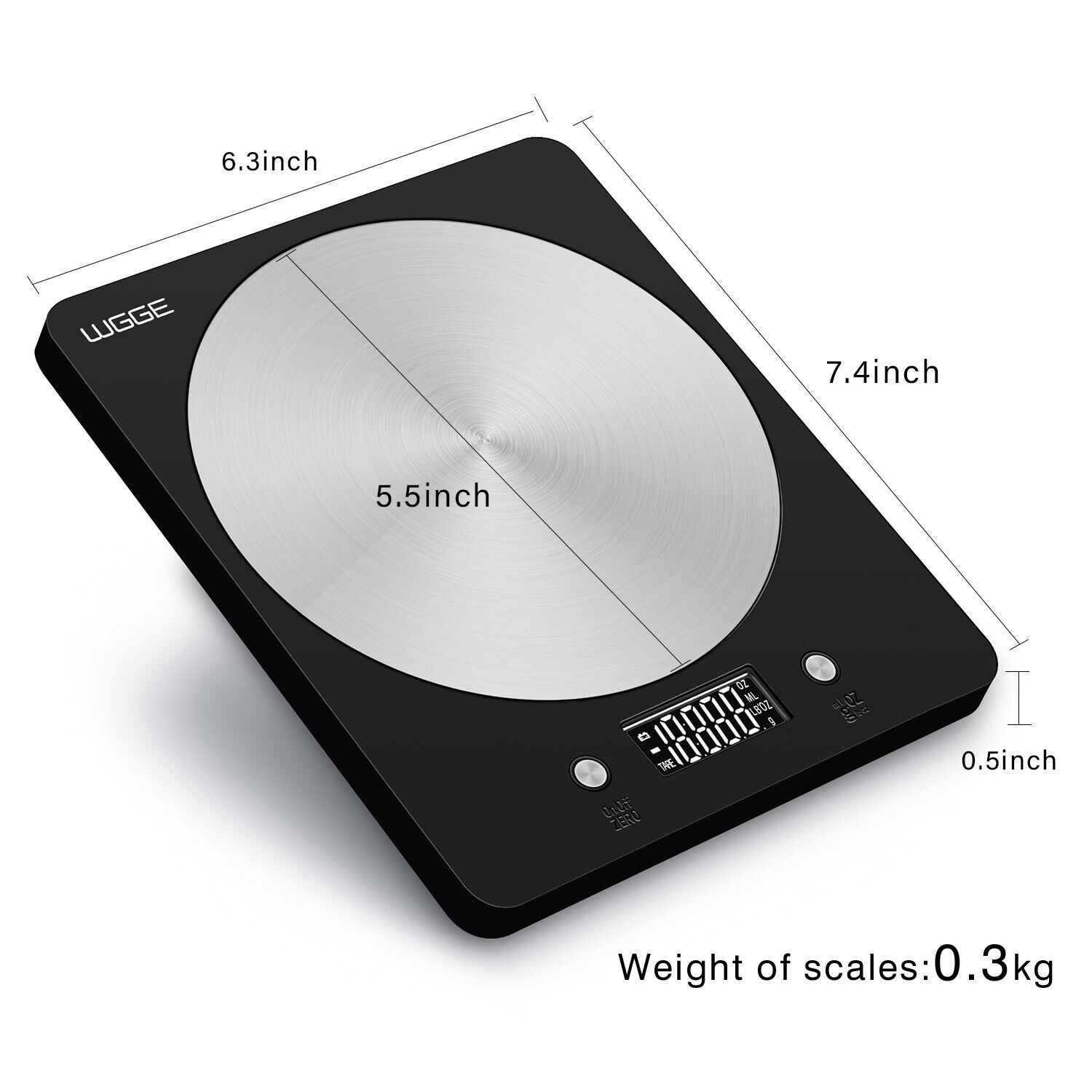 Digital Kitchen Scale Stainless Steel High Accuracy Multifun