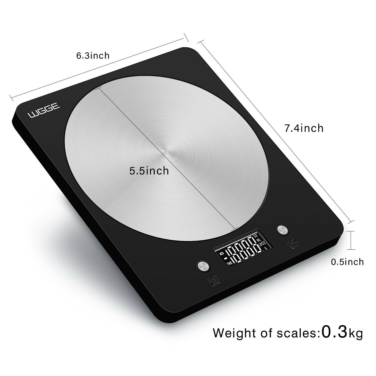 digital kitchen scale stainless steel high accuracy