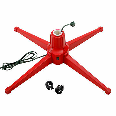 Home Heritage Electric Metal Rotating Stand for 7 Foot Trees, Red (For Parts)