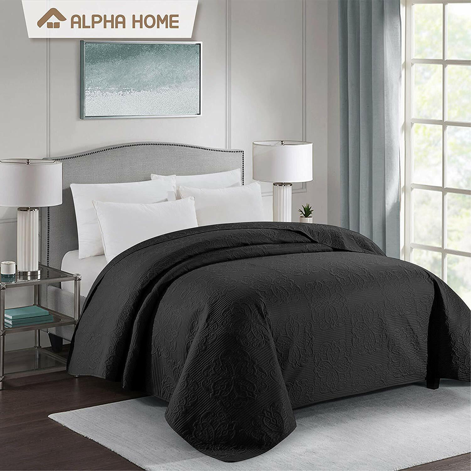 ALPHA HOME Bed Quilt Bedspread and Coverlet
