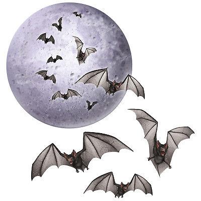 HALLOWEEN Party Decoration Prop Spooky Vampire BAT FULL MOON HANGING MOBILE