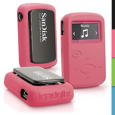 Pink Silikon Tasche Hülle für Sandisk Sansa Clip Jam MP3 2015 Gel Schutz Case Pink Mp3 Sansa Clip