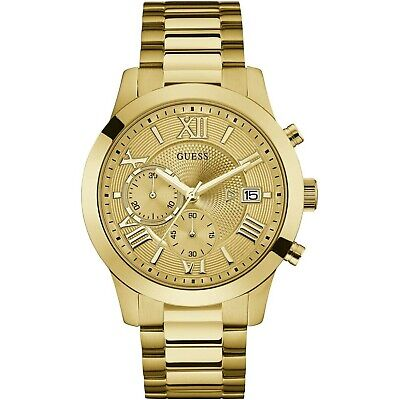 Guess Gold Tone Stainless Steel Chronograph Quartz Watch W0668G4