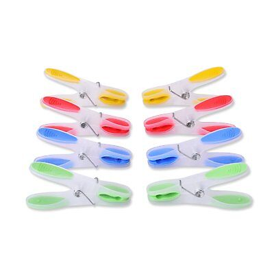 - Decorative Clear Plastic Clothespins Colored Clothes Pins Clips Pegs 24 pieces