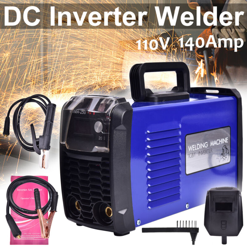 110V MMA-250 Inverter Portable Digital Welder Stick Welding Machine 140 Amp