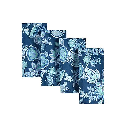 Waverly Quilted Floral  Napkins 4 Pk. Charismatic /Blue 19