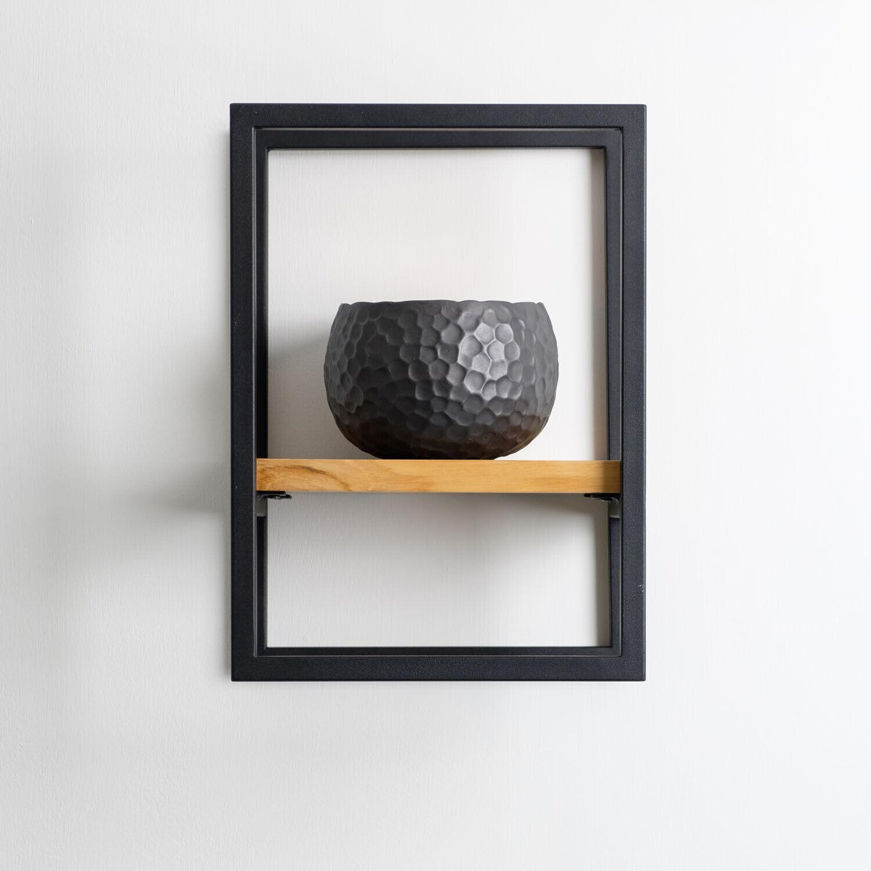 wohnfreuden Hänge-Regale verschiedene Größen aus Teakholz und Eisen Wand-Regale