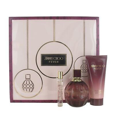 Jimmy Choo Fever 100ml & 7.5ml Eau de Parfum, 100ml Body Lotion Gift Set for Her