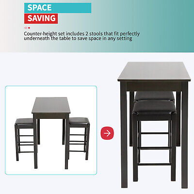 Dining Table Set 3 Pcs Dining Set Bar Dining Table and Chairs Set Dining Sets