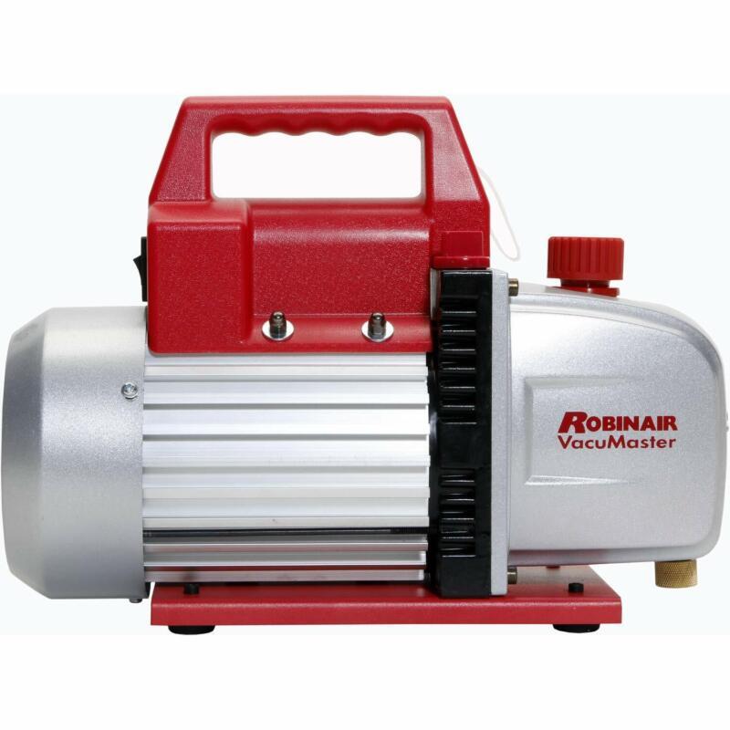 Robinair Heavy Duty 1/3 Horsepower Two Stage Motor Aluminum Vacuum Pump w/ Valve
