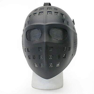 Hockey Style Face Mask (BBTac Airsoft Face Mask Hockey Style Full Face Protection Halloween)