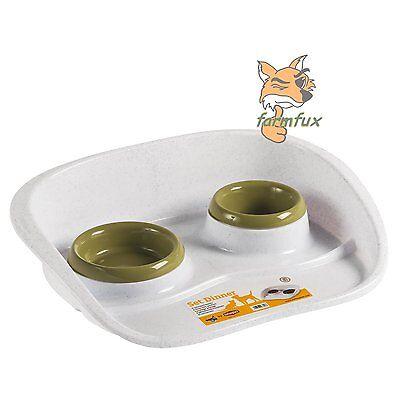 Futterbar Futternapf Wassernapf Doppelnapf Napfset Katzen Hunde Napf Fressnapf