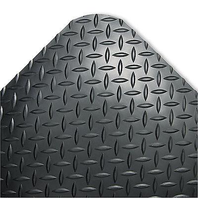Crown Industrial Deck Plate Anti-Fatigue Mat Vinyl 24 x 36 Black (Deck Plate Anti Fatigue Mat)