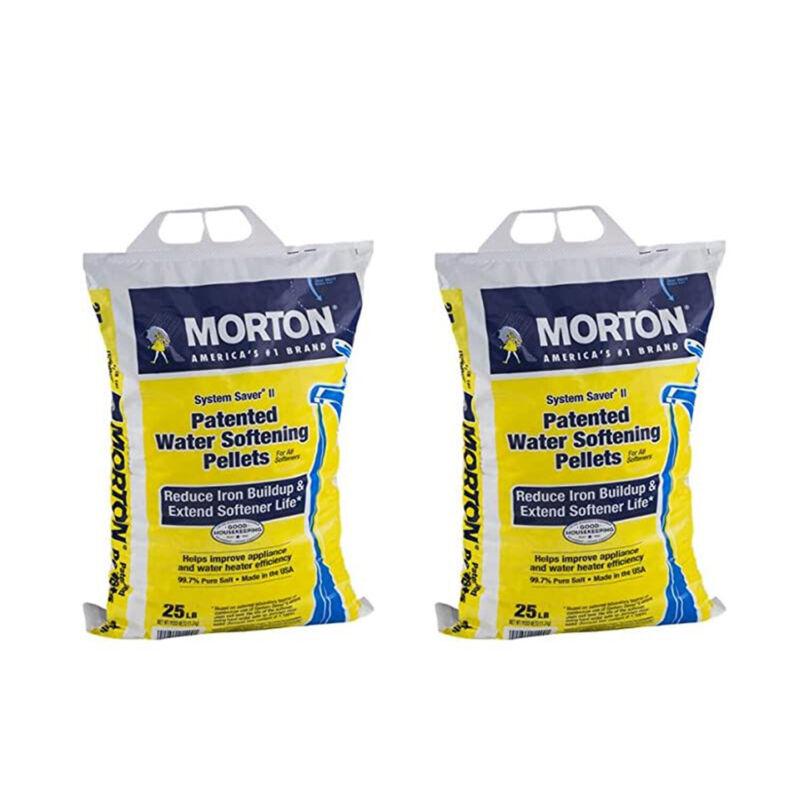 Morton Salt System Saver II Water Softener Pellets, 25 lbs (2 Pack)