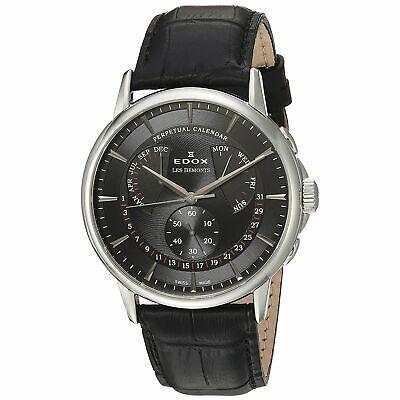 Edox 016023NIN Men's Les Bemonts Silver-Tone Quartz Watch