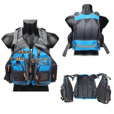 cc5d21670bc3f Fishing Safety Life Jacket Fly Fishing Vest Breath Polyester Mesh Fishing  Vest