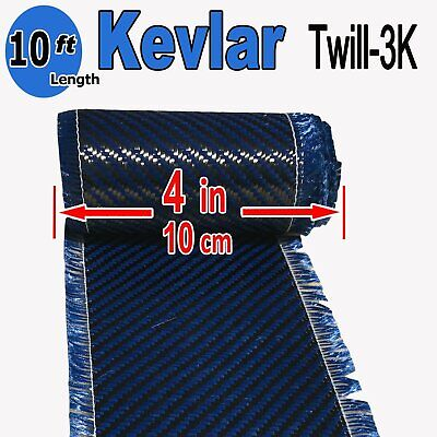 4 In X 10 Ft - Made With Kevlar-carbon Fiber Aramid Fabric - 3k2k-200g - Blue