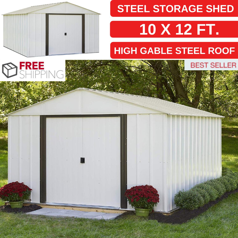 new steel storage shed 10 x 12