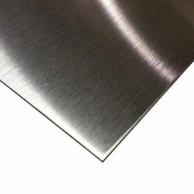 304 4 Brushed Stainless Steel Sheet 0.048 18 Ga. X 12 X 24
