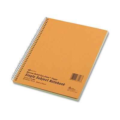 National Subject Wirebound Notebook Narrowmargin Rule 8 X 10 Green 80 Sheets