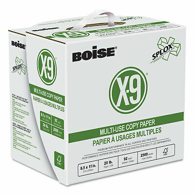 Boise X-9 SPLOX Multi-Use Copy Paper 92 Bright 20lb 8-1/2x11 White 2500/Ctn ()