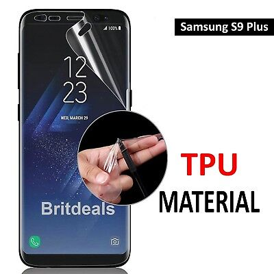 For Samsung Galaxy S9 Plus - FULL SCREEN Face Curved TPU Screen Protector Cover